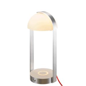 Luminária de mesa com carregador de smartphone